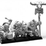 ForgeWorld Chaos Dwarf Infernal Guard Command - Chaos Dwarf Warriors & Hero Proxies