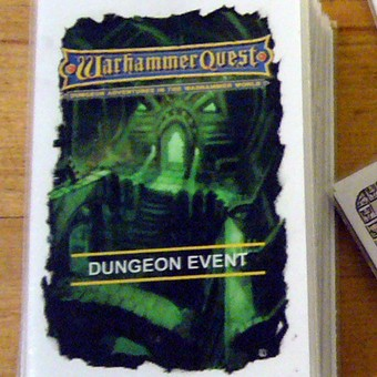 Warhammer Quest Dungeon Event Card Backs